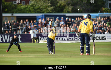 Hove UK Friday 17th July 2015 - Michael Carberry batting for Hampshire during the NatWest T20 blast cricket match - Stock Photo