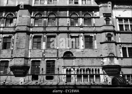 A view of part of the exterior of The Palace Theatre in Shaftesbury Avenue, London, England - Stock Photo