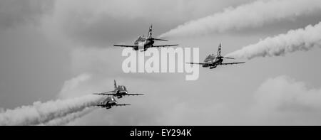 RAF Red Arrows Display Team - Stock Photo