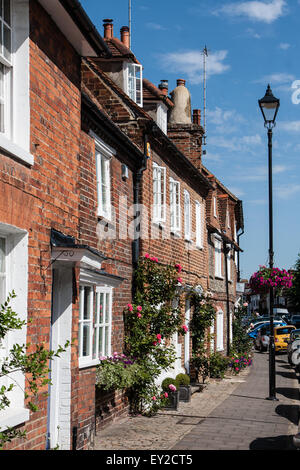 Old houses in Amersham High Street - Stock Photo