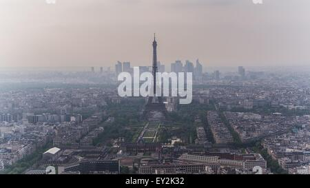 Paris seen from the montparnasse tower - Stock Photo