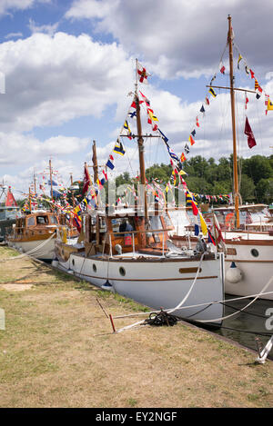 Dunkirk little ships at the Thames Traditional Boat Festival, Fawley Meadows, Henley On Thames, Oxfordshire, England - Stock Photo