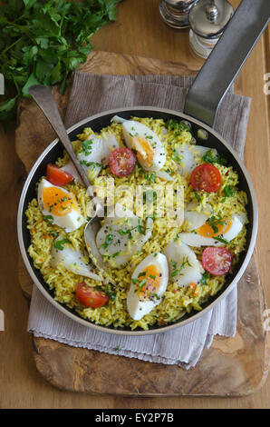 Scottish kedgeree - Stock Photo