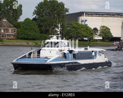 Wantij- ENI 02324343 on the Nieuwe Maas river - Stock Photo