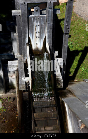 Water flowing to the forge, Saugus Iron Works National Historic Site, Saugus, Massachusetts, United States of America - Stock Photo