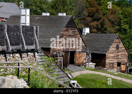 Forge building and Silting Mill building at - Stock Photo