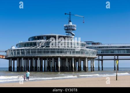 Pier of Scheveningen, Holland, Netherlands - Stock Photo