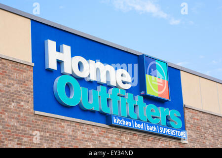 DARTMOUTH,  CANADA - JULY 12, 2015: Home Outfitters is a Canadian home decorative retail chain. - Stock Photo