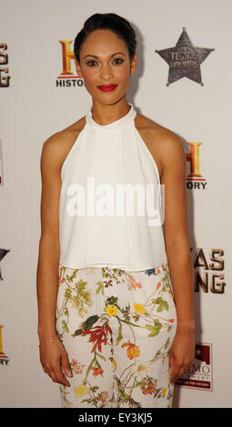 History's new miniseries 'Texas Rising' premiere at The Alamo - Arrivals  Featuring: Cynthia Addai-Robinson Where: - Stock Photo