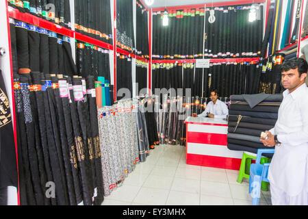 cloth shop, bazar, Zahedan, Iran - Stock Photo