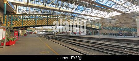 Carlisle Citadel Railway Station, Cumbria, England, UK - Stock Photo