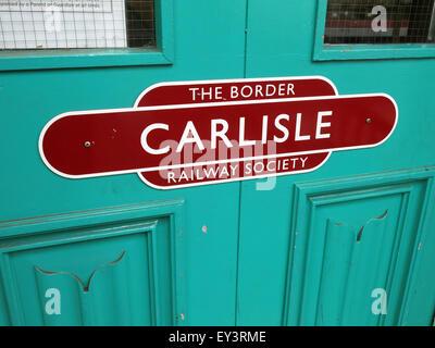 The Border Railway society, Carlisle, Cumbria, England, UK - Stock Photo