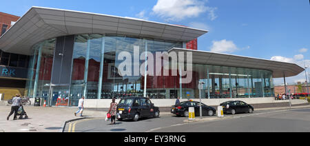 Warrington Bus Station,interchange,town centre,Cheshire,England,UK - Stock Photo