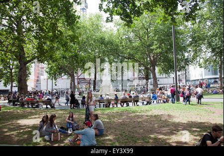 Leicester Square Gardens in London UK - Stock Photo