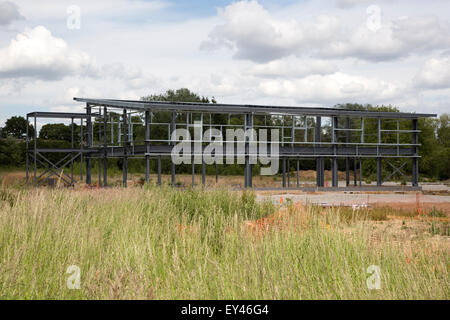 A Steel Framed Industrial Building Frame And Roof In