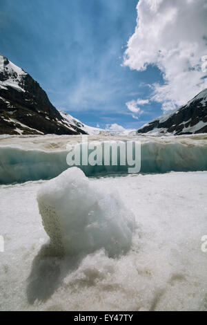 The Athabasca Glacier in the Canadian Rockies. - Stock Photo