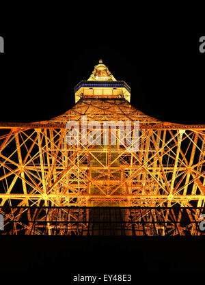 Tokyo tower at mid night - Stock Photo