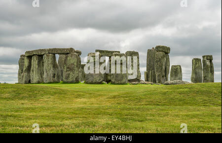 Stonehenge, England. UK - , one of the wonders of the world and the best-known prehistoric monument in Europe - Stock Photo