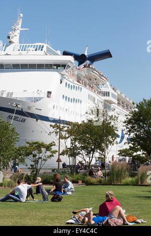 Cruise & Maritime Voyages' cruise ship Magellan. - Stock Photo
