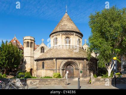 Holy sepulchre round church Bridge Street Cambridge Cambridgeshire England UK GB EU Europe - Stock Photo