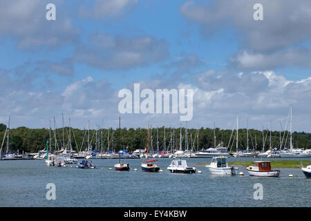 View of the Beaulieu River from Buckler's Hard - Stock Photo