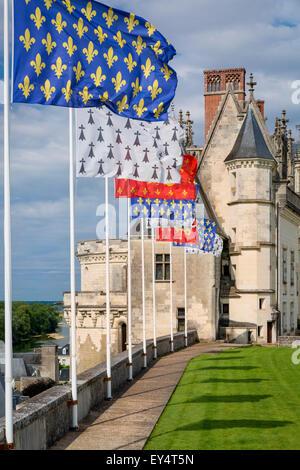 Chateau d'Amboise, Amboise, Indre-et-Loire, Centre, France - Stock Photo