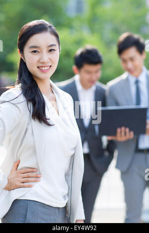 Portrait of young businesswoman - Stock Photo