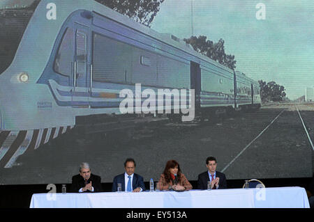 Buenos Aires, Argentina. 21st July, 2015. Argentine President Cristina Fernandez (2nd, R) attends the opening ceremony - Stock Photo