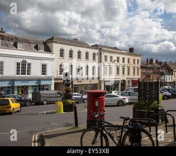 Historic High Street, Marlborough, Wiltshire, England, UK - Stock Photo