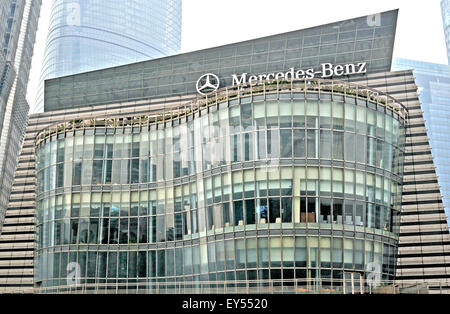 Logo of mercedes benz at a building stock photo royalty for Mercedes benz office