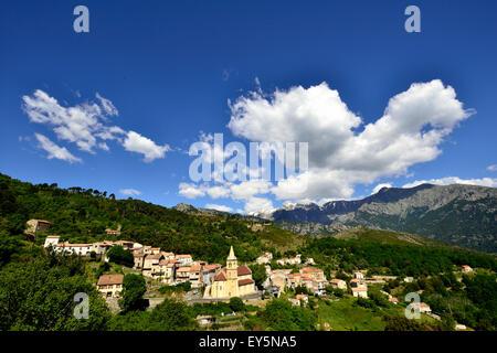 Village Vivario - Corsica France - Stock Photo