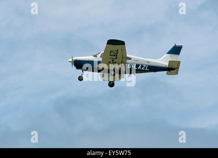 Civil Registered Aircraft operating through Inverness Dalcross Airport in Northern Scotland. - Stock Photo