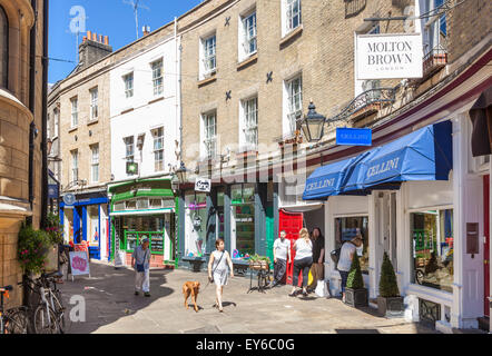Rose Crescent shopping street in Cambridge City Centre Cambridgeshire England UK GB EU Europe - Stock Photo