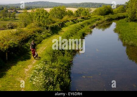 'Northern Reaches' of Lancaster Canal, Cumbria, not connected to the rest of the waterway - Stock Photo