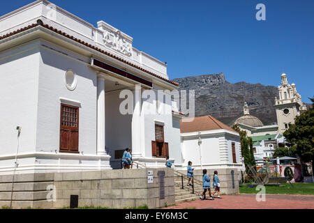 Cape Town South Africa African City Centre center Government Avenue The Company's Garden public park Table Mountain - Stock Photo