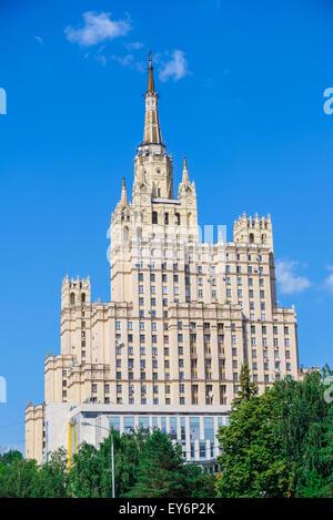Stalin skyscraper on Kudrinskaya Square, Moscow, Russia - Stock Photo