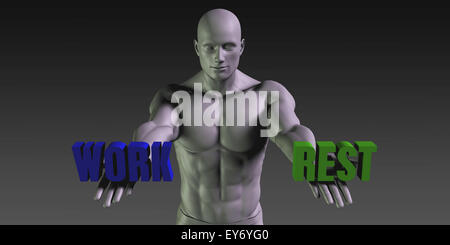 Work vs Rest Concept of Choosing Between the Two Choices - Stock Photo