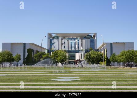 The German Federal Chancellery (Bundeskanzleramt) exterior front view. - Stock Photo