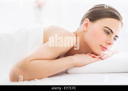 Young woman relaxing in spa - Stock Photo