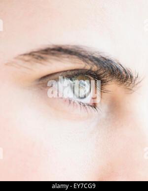 Close-up of blue eye - Stock Photo