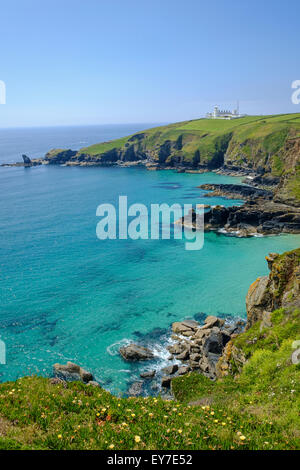 Lizard Point lighthouse, Lizard Peninsula, West Cornwall, England, UK - Stock Photo