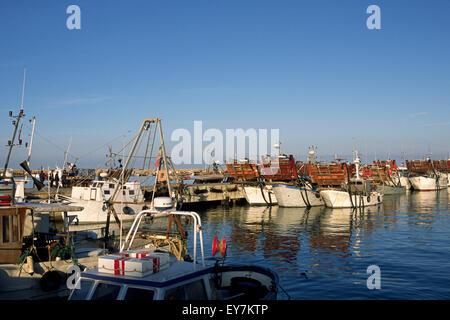 italy, le marche, san benedetto del tronto, port, fishing boats - Stock Photo