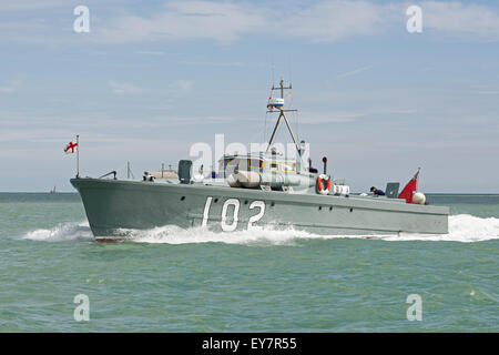 MTB 102 - built in 1937 - is one of the few remaining WW2 motor torpedo boats. - Stock Photo