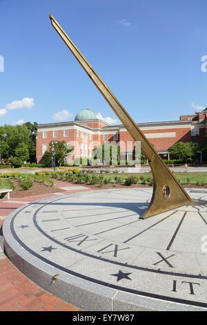 Sundial, Morehead Planetarium and Science Center, University of North Carolina at Chapel Hill, North Carolina, USA Stock Photo