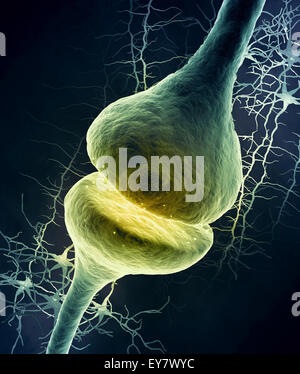 3d illustration of a dendrite - Stock Photo