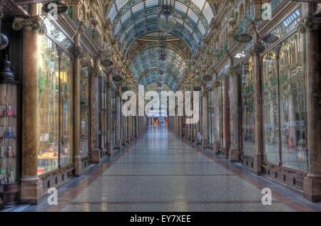 County Arcade,Leeds City Centre,West Yorkshire, England,UK - Stock Photo