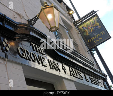 Grove Inn Pub, Back Row, Leeds, West Yorkshire,England,UK - Looking up - Stock Photo