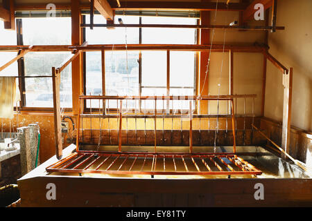 Japanese traditional paper crafting studio - Stock Photo