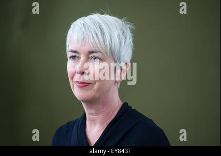 Writer Nicola White, appearing at the Edinburgh International Book Festival 2014. Edinburgh, UK. Wednesday 13th - Stock Photo