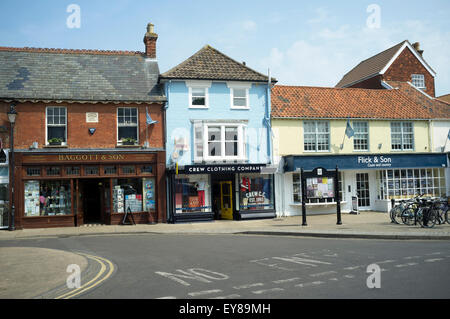 High street, Aldeburgh, Suffolk, UK. - Stock Photo